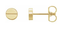 Load image into Gallery viewer, 14k Yellow Gold Cartier Style Post Earrings