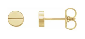 14k Yellow Gold Cartier Style Post Earrings