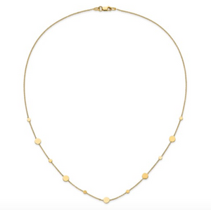 "14k Yellow Gold Polished Disc 18"" Necklace"