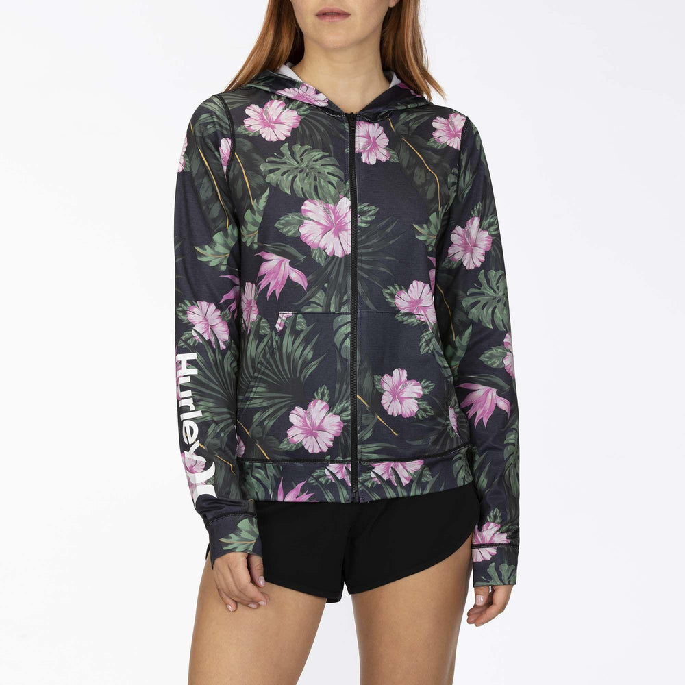 Women's Hooded Rashguard Hurley One And Only Lanai