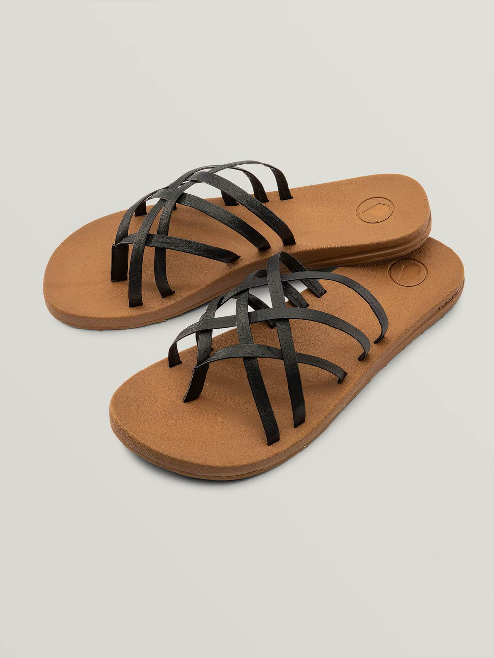 E-CLINER MULTI STRAP SANDALS - BLACK