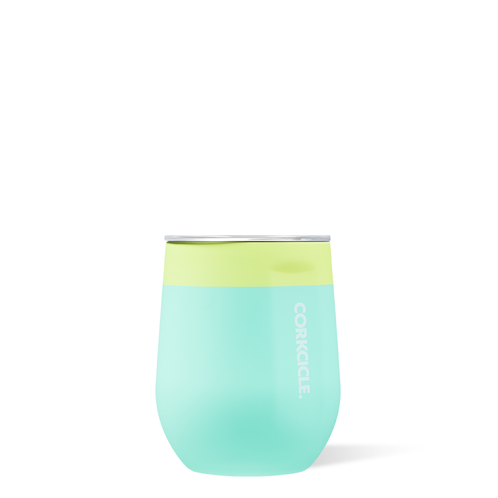LIMEADE COLOR BLOCK STEMLESS 12oz.