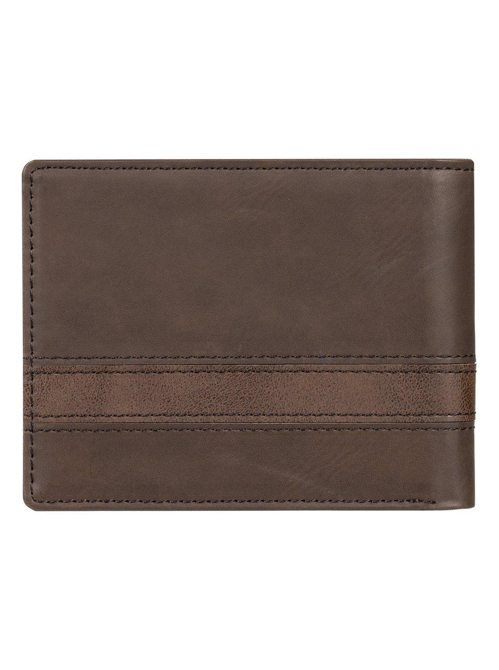Supply Slim Bi-Fold Wallet Chocolate Brown
