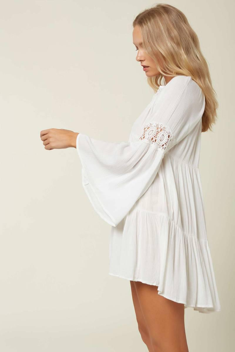 SALTWATER SOLIDS BELL SLEEVE COVER-UP