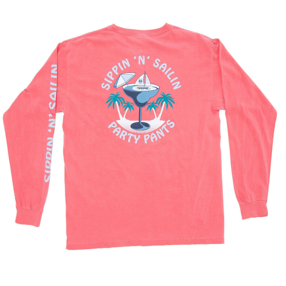 PARTY PANTS SIPPIN LONG SLEEVE TEE