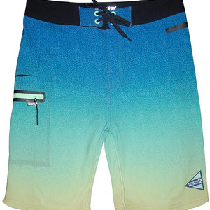 MEN'S TRI-COLOR 4-WAY STRETCH FISHING BOARDSHORT