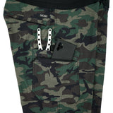 BLUE WATER CAMO FISHING SHORTS (GREEN FISH CAMO)
