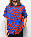PEACE POPPY BUTTON-UP SHIRT