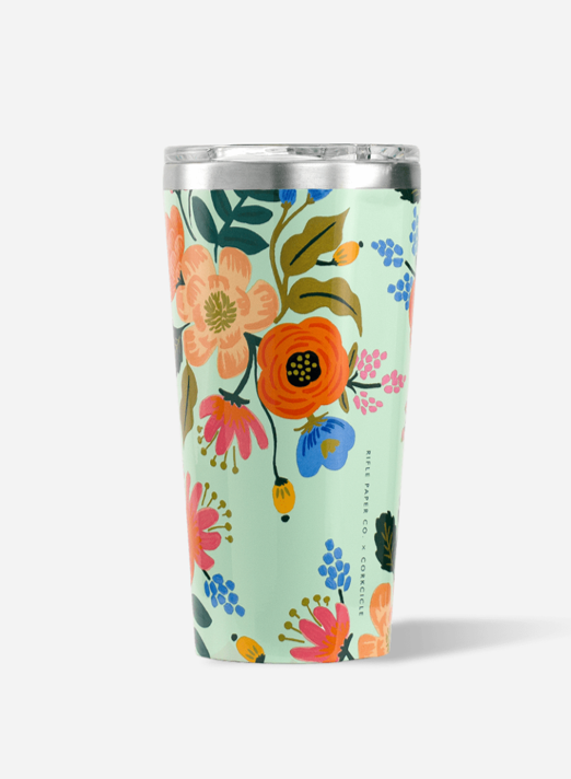 RIFLE PAPER CO. LIVELY FLORAL TUMBLER 16OZ.