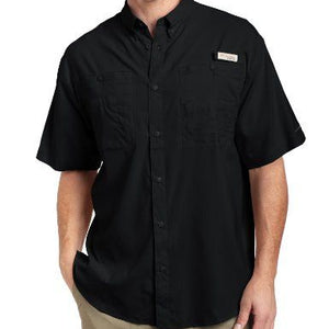 PFG TAMIAMI OMNI-SHADE SHORT SLEEVE SHIRT (BLACK)