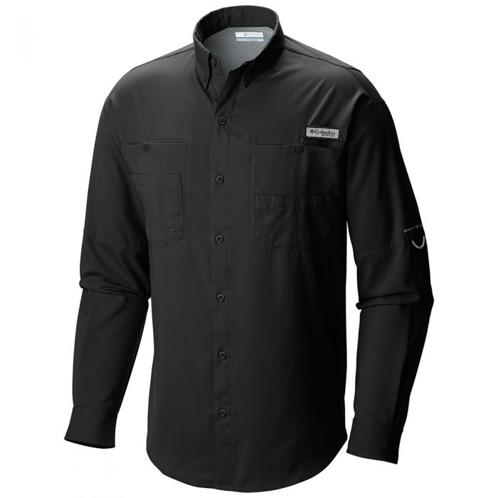 PFG TAMIAMI OMNI-SHADE LONG SLEEVE SHIRT (BLACK)