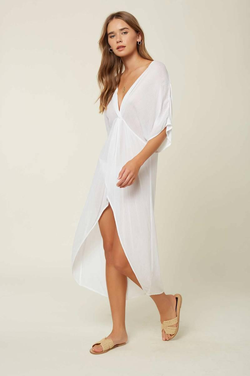 SALTWATER SOLIDS TWIST MIDI COVER-UP
