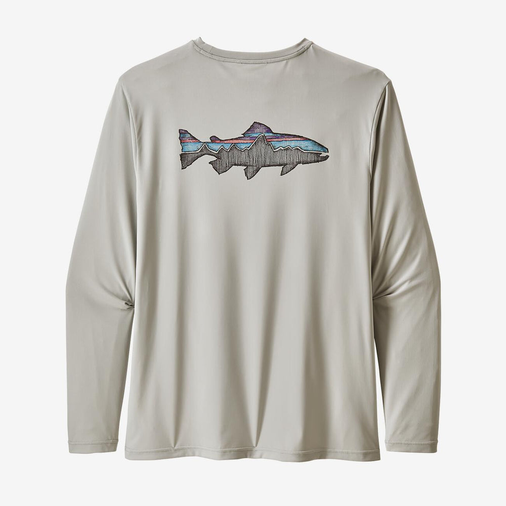 Men's Long-Sleeved Capilene® Cool Daily Fish Graphic Shirt