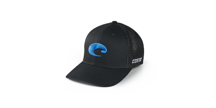 COSTA FLEXFIT LOGO TRUCKER HAT-BLACK