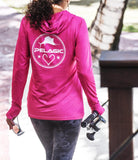 ULTRATEK HOODED FISHING SHIRT PINK
