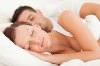 Sleeping man and woman