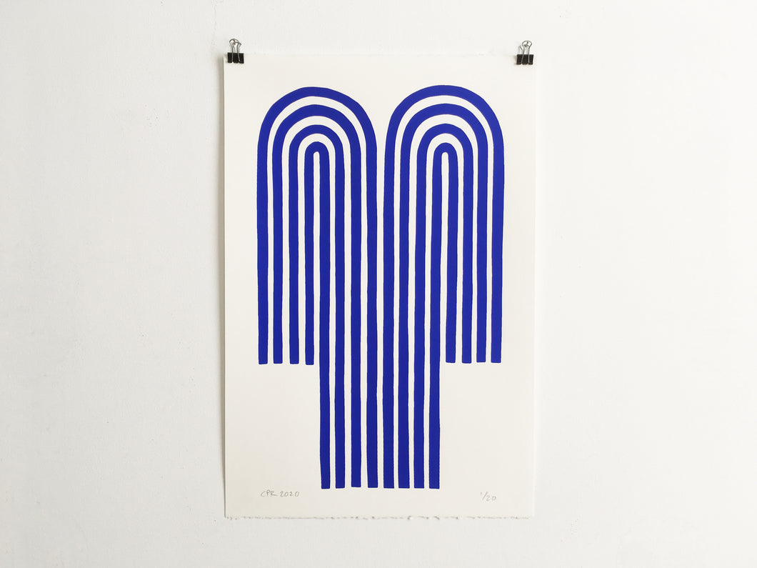 BLUE FOUNTAIN - Limited Edition Screen Print