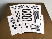 Load image into Gallery viewer, FORTUNE - Set of 11 Black + White Postcards