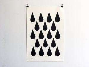 BLACK RAIN - Limited Edition Screen Print