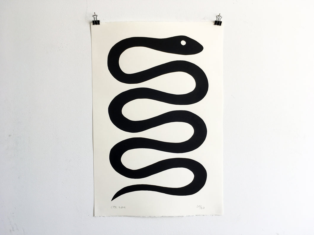 BLACK SNAKE - Limited Edition Screen Print