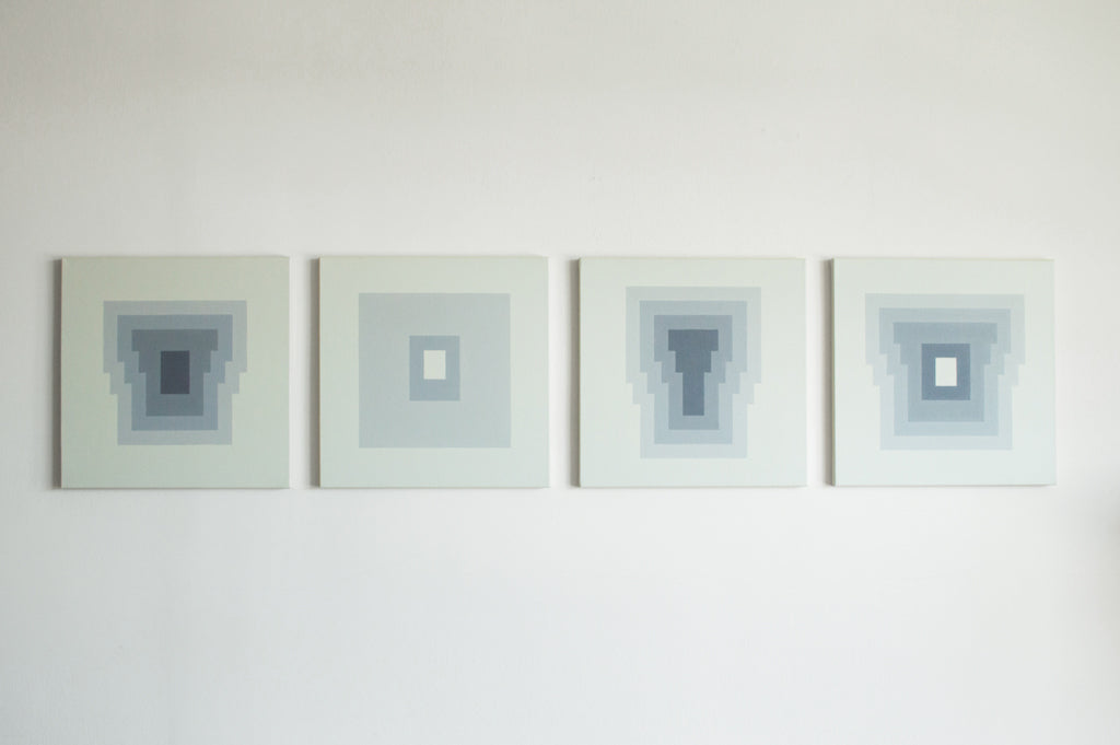 BLOCKS I-IV - Four acrylic paintings on canvas
