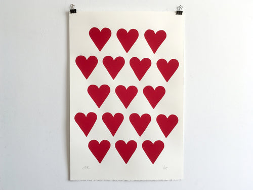 HEARTS - Limited Edition Screen Print