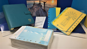 A Blaze Planner Deluxe Bundle - Teal Leather Binder