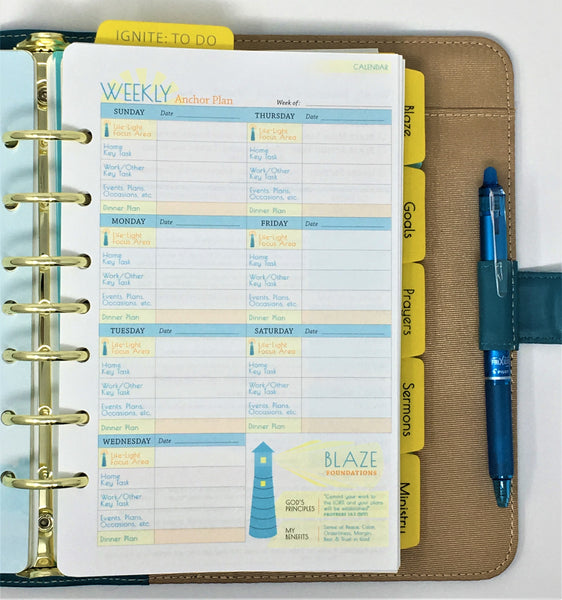 Refill - Calendar - Blaze Weekly Plan/Review