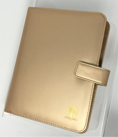 Blaze Deluxe Binder - Gold Simulated Leather Binder Only