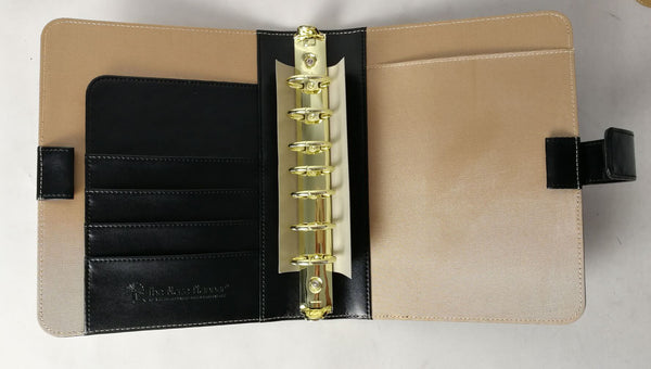 A Blaze Planner Deluxe Bundle - Black pu Simulated Leather Binder
