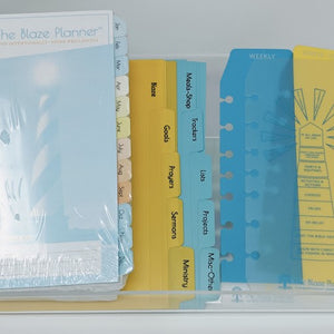 Refill - Yearly - Blaze Deluxe Planner - Pages and Tabs Only
