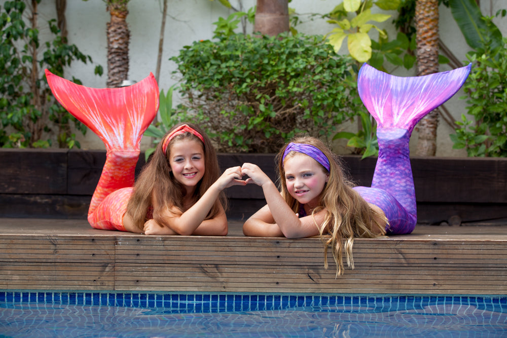 Mermaid Tail with Fins and Mermaid Hair Accessories