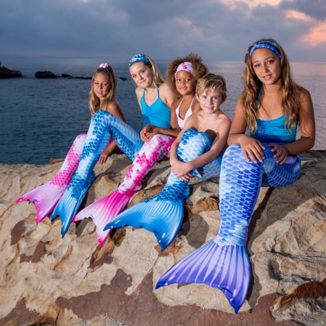 Royal Koi Mermaid Tail swimming Collection with Monofin. A real mermaid experience for a little mermaid