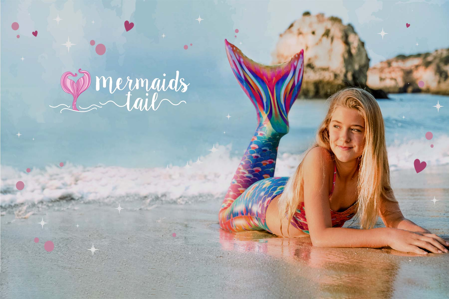 Mermaid Tails for Swimming. Fin Fun Monofin. Mermaids Tail UK