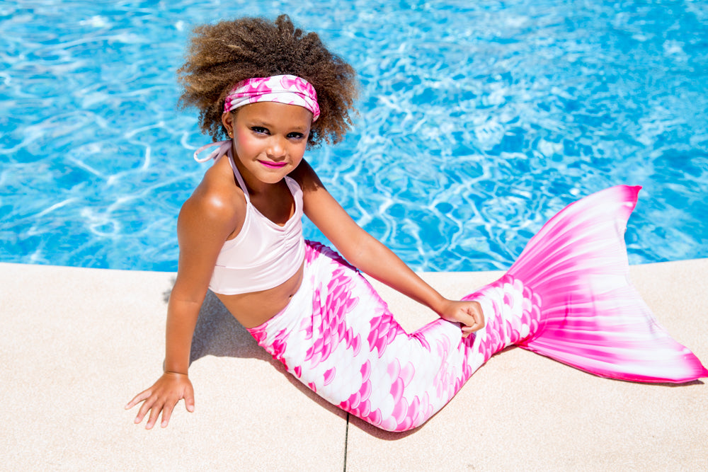 Mermaid Tails for Swimming with Fin - Chelsea Rose Pink