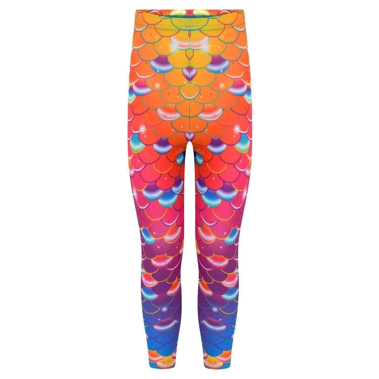 Coral Carnival Mermaid Leggings - Mermaids Tail UK