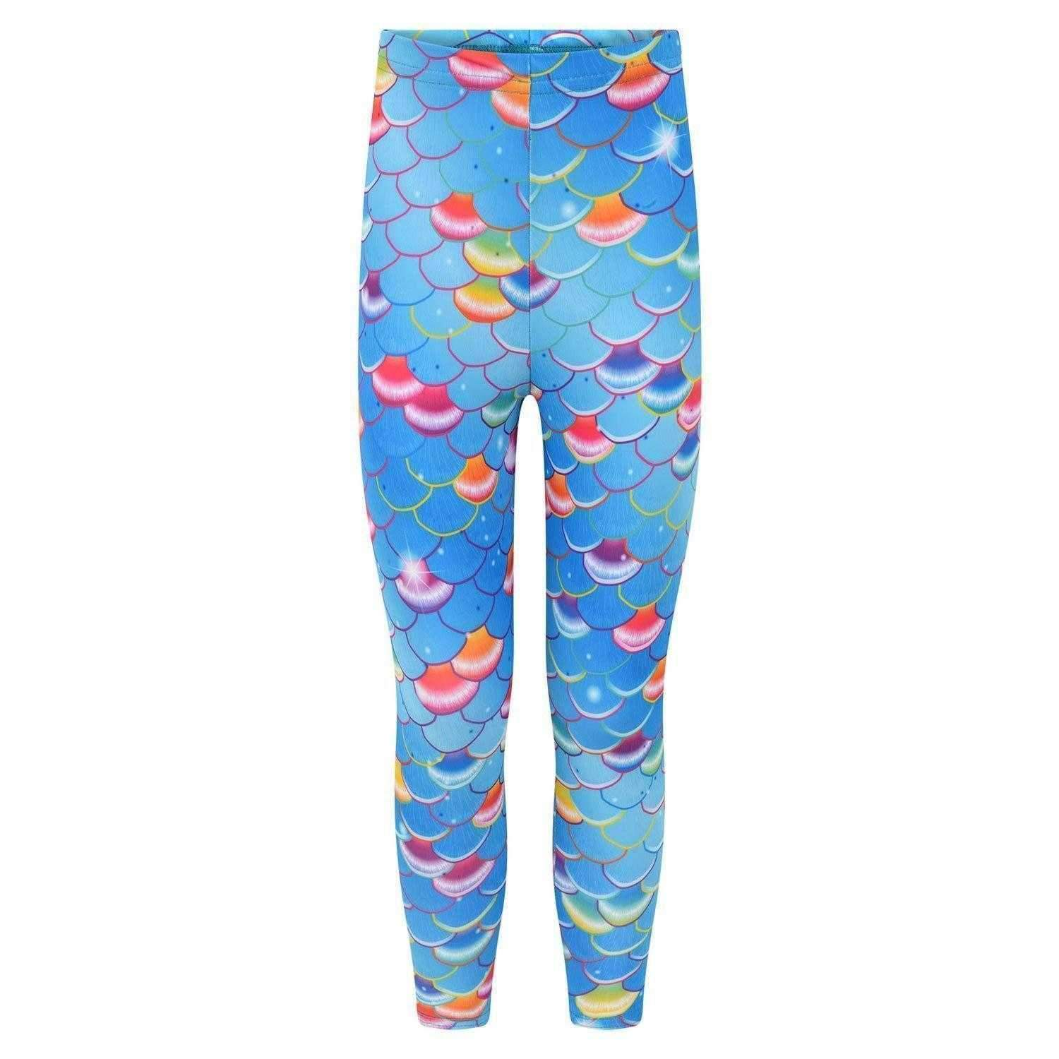 Pacific Rainbow Meerjungfrau Leggings - Meerjungfrauen Schwanz UK