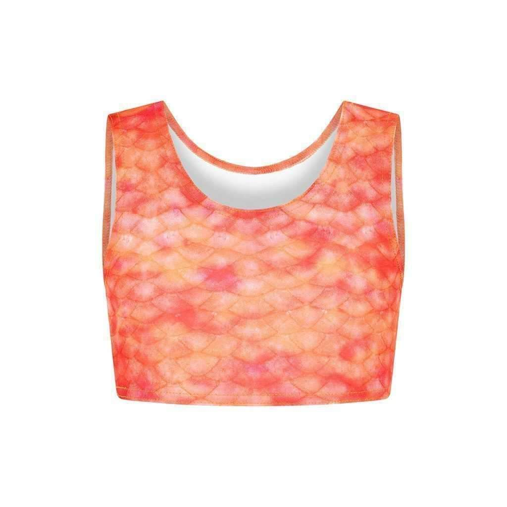 Sunset Splash Crop Top - Mermaids Tail UK
