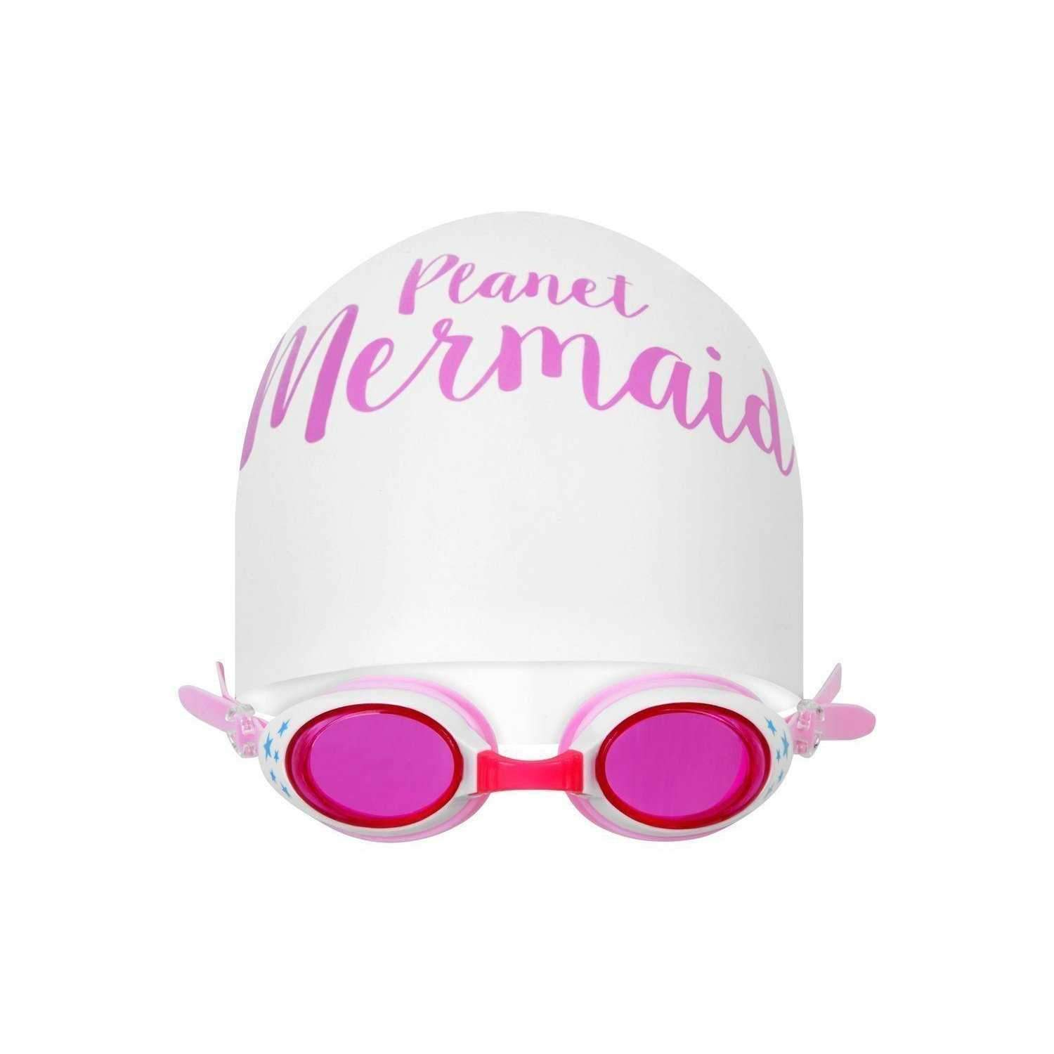Swimming Hat & Goggle Set - Mermaids Tail UK