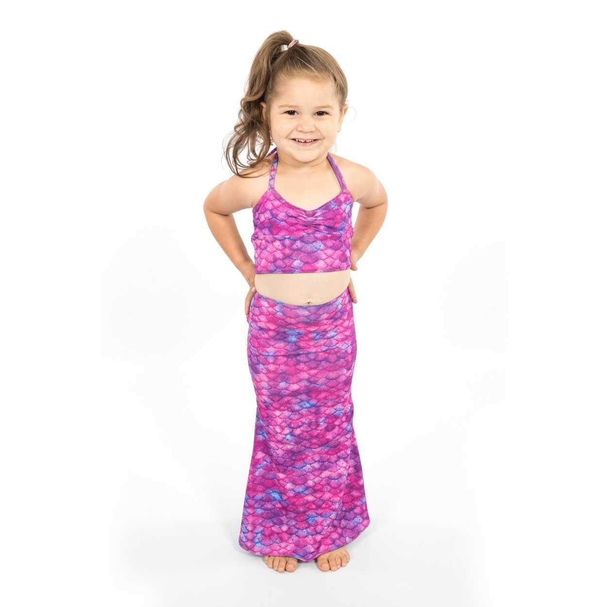 Toddler Swimming Skirt and Tankini - Mermaids Tail UK