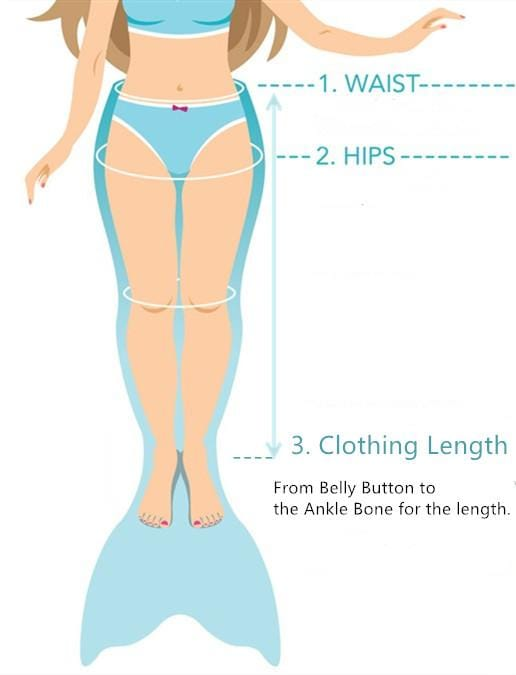 Mermaid Tail Sizing Chart Guide