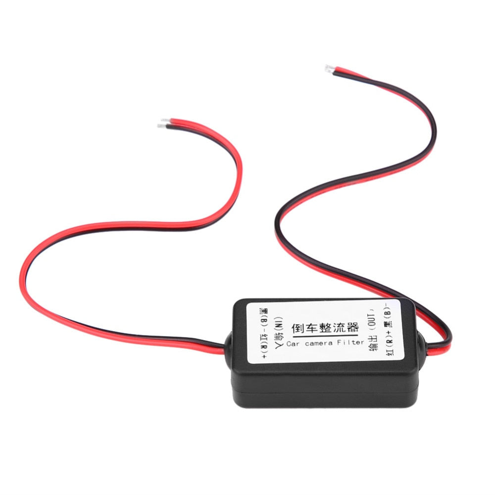 12V DC Car Rearview Camera Power Relay Capacitor Filter Rectifier high characteristic and stable performance Made of Plastic
