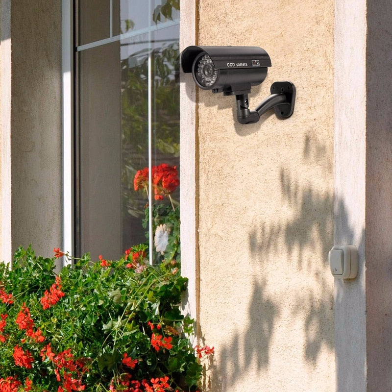Security TL-2600 Waterproof Outdoor Indoor Fake Camera Security Dummy CCTV Surveillance Camera Night CAM LED Light Color