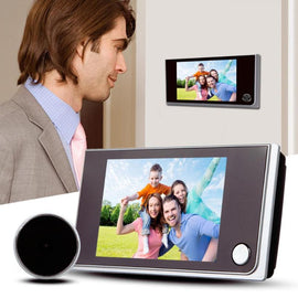 3.5 inch Digital Door Camera Doorbell LCD Color Screen 120 Degree Peephole Viewer Door Eye Doorbell Outdoor Door Bell