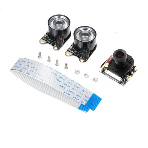 New 1080p 5MP IR Night Vision Camera 70° 160° Fish Eye Lens Auto IR-CUT Camera w/ 2pcs LED light for Raspberry Pi 4 3B+ Zero W