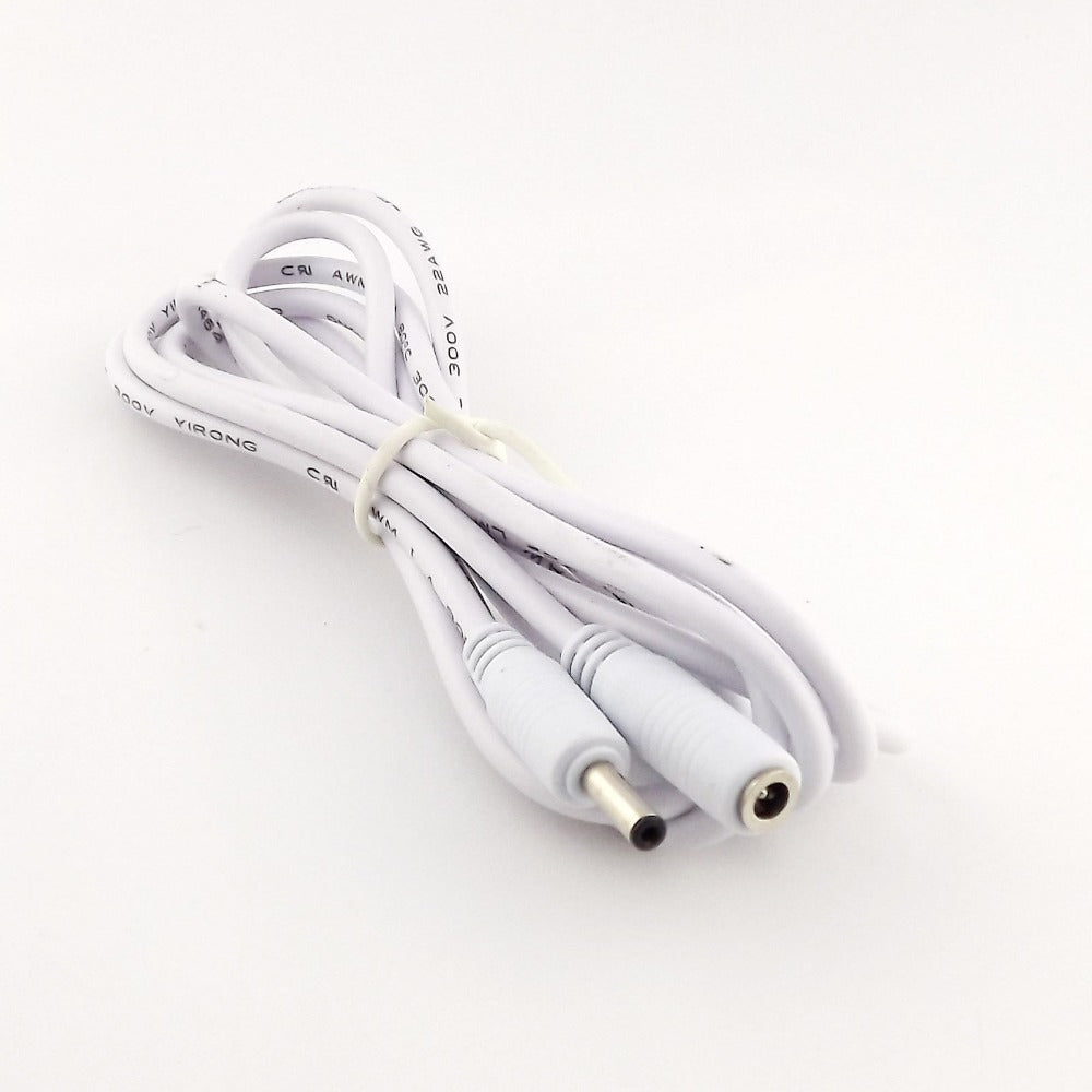 1pcs DC Power 3.5mm x 1.35mm Female to Male Camera Extension Adapter Cable 5ft/3ft/10ft/5m White