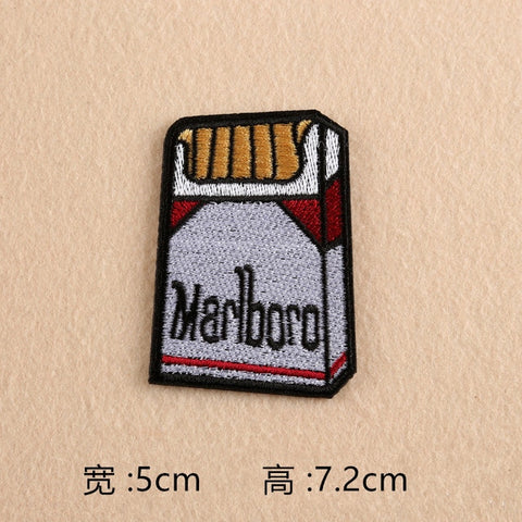 Funny lovely shape of camera lipstick cigarette rainbow embroidered clothes DIY decorative jacket, applique iron clothes patches