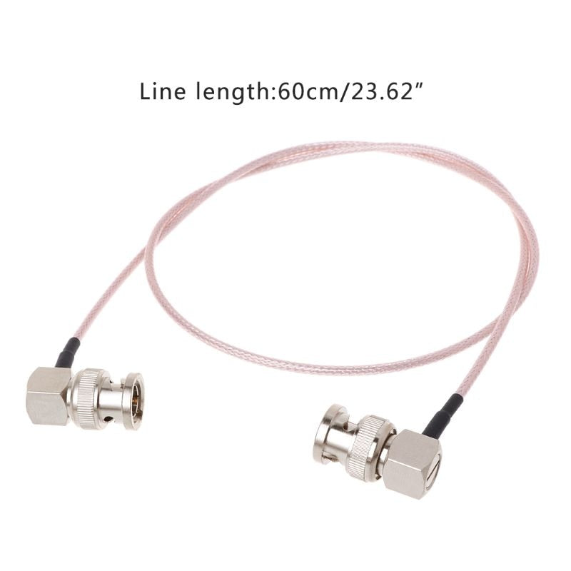 HD SDI Video Connector Cable RG179 BNC Male To BNC Right Angle Plug For BMCC Blackmagic Camera