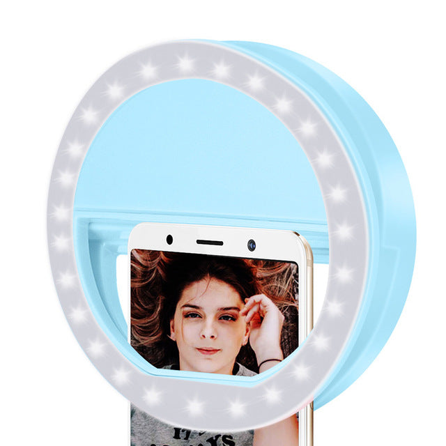 Z20 Mobile phone Portable Clip Selfie Ring beauty Fill Flash lens Light Lamp for Photo Camera For Cell Phone Smartphone
