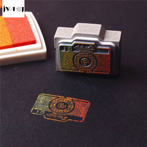 1 pcs mini vintage camera wooden stamp diy Handmadedecal stamps for scrapbooking diy stamps Photo Album Craft gifts